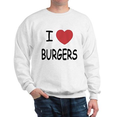 I heart burgers Sweatshirt