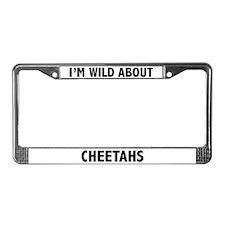 Cheetah License Plate Frame