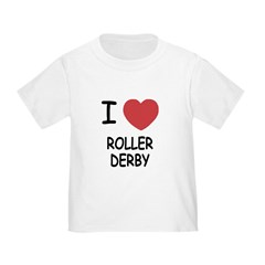 I heart roller derby T