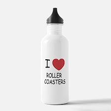 I heart roller coasters Sports Water Bottle