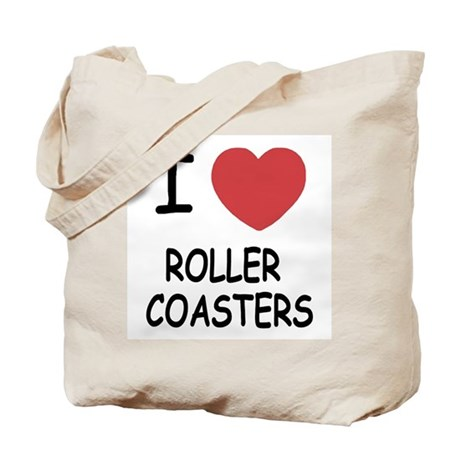 I heart roller coasters Tote Bag
