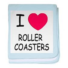 I heart roller coasters baby blanket