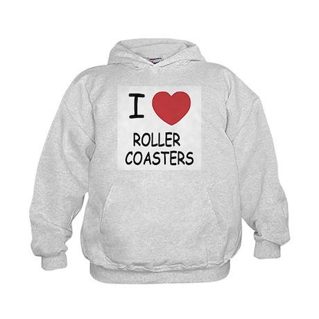 I heart roller coasters Kids Hoodie