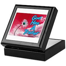 God Has A Trailer Keepsake Box