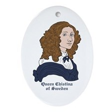 Queen Christina of Sweden Oval Ornament