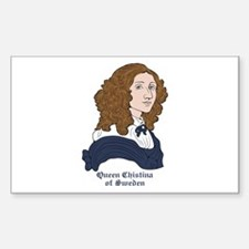 Queen Christina of Sweden Rectangle Decal