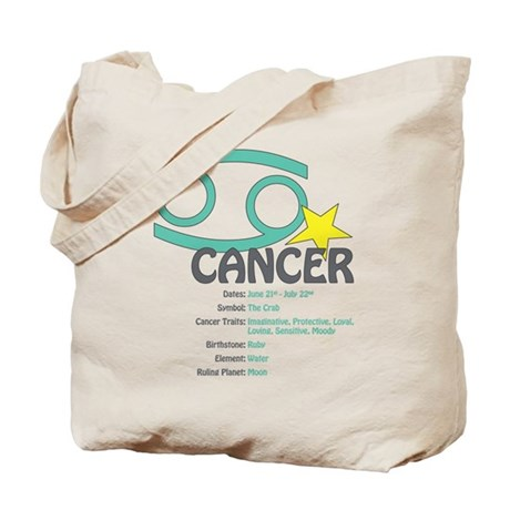 Cancer Traits Tote Bag