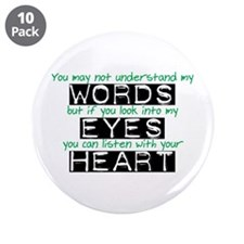 """Listen with your Heart 3.5"""" Button (10 pack)"""