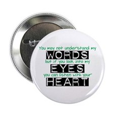 """Listen with your Heart 2.25"""" Button"""