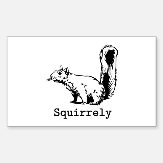 Squirrely Sticker (Rectangle)