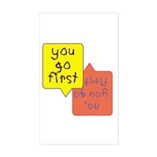Twins - You go first Rectangle Decal
