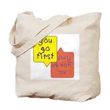 Twins - You go first Tote Bag