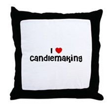 I * Candlemaking Throw Pillow