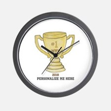 Personalized Trophy Wall Clock