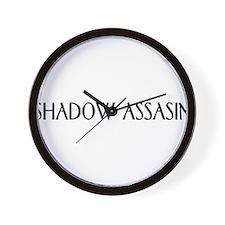 shadow assasin Wall Clock