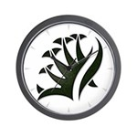 Tribal Frond Wall Clock