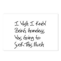 Being Homeless Sucks Postcards (Package of 8)