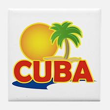 Cuba tile coaster