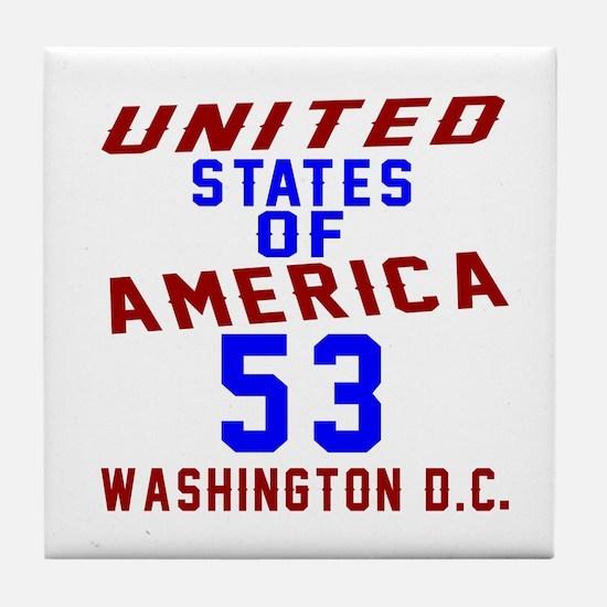 America 53 Birthday Tile Coaster