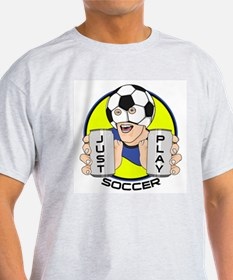 Just Play Soccer Ash Grey T-Shirt