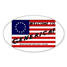 Generica USA Oval Stickers