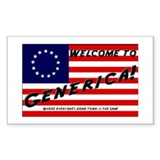 Generica USA Rectangle Stickers