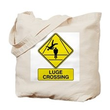 Luge Crossing Sign Tote Bag