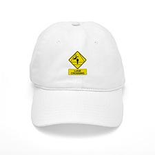Luge Crossing Sign Baseball Cap
