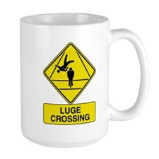 Luge Crossing Sign Mug