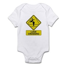 Luge Crossing Sign Infant Creeper