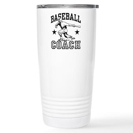 Baseball Coach Stainless Steel Travel Mug