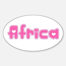"""Africa"" Oval Decal"