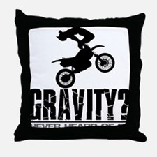 Gravity-Motocross Freestyle/Cordova Throw Pillow