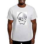 Tribal Skull (Chrome) Ash Grey T-Shirt