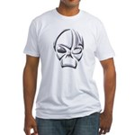 Tribal Skull (Chrome) Fitted T-Shirt