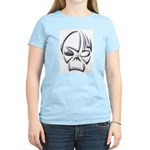 Tribal Skull (Chrome) Women's Pink T-Shirt