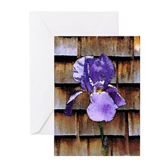 Iris with Shingles Greeting Cards (Pk of 10)