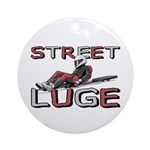 Street Luge Racer Ornament (Round)