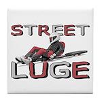 Street Luge Racer Tile Coaster