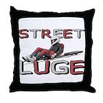 Street Luge Racer Throw Pillow