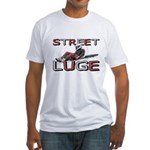 Street Luge Racer Fitted T-Shirt