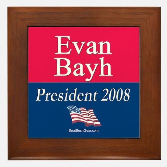 """""""Evan Bayh President"""" Framed Tile"""
