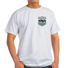 Blue Rose Badge Ash Grey T-Shirt