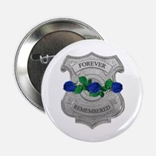 Blue Rose Badge Button