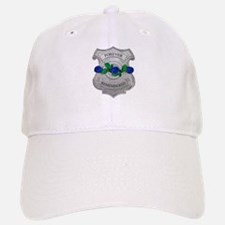 Blue Rose Badge Baseball Baseball Cap
