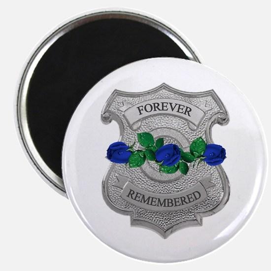 Blue Rose Badge Magnet