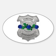 Blue Rose Badge Oval Decal