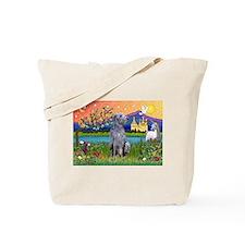 Deerhound in Fantasy Land Tote Bag