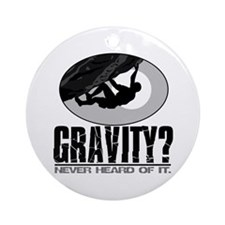 Gravity? Rock Climber Ornament (Round)