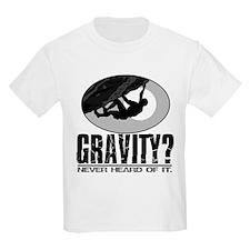 Gravity? Rock Climber Kids T-Shirt